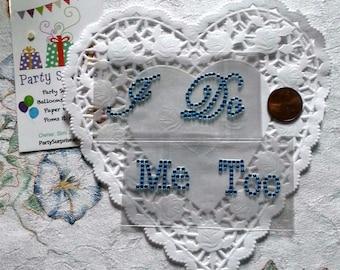 Wedding Shoe Stickers,I Do Me Too Stickers, Groom Shoe Stickers, Bride Shoe Stickers