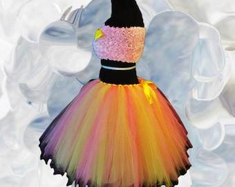Women's Lemon and Pink Tutu Skirt