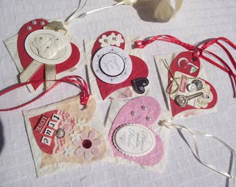 Lot of Handmade Paper GIFT Tags,Wedding,SHOWER,Life Book,Smash Book,Scrapbook Heart Tags,HEART Gift Tags,Card Making,Wedding Embellishments