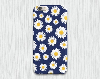Navy Floral Daisy Mobile Cell Phone Case iPhone 4 4s 5 5s 5c 6 6 plus 6s 6s plus Samsung Galaxy s3 s3 mini s4 s4 mini s5 s5 mini s6 s6 edge