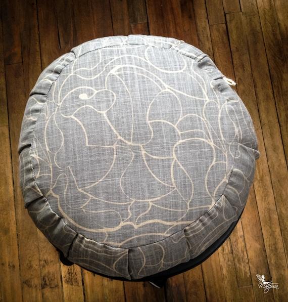 Gray Meditation cushion traditional zafu SALE Organic