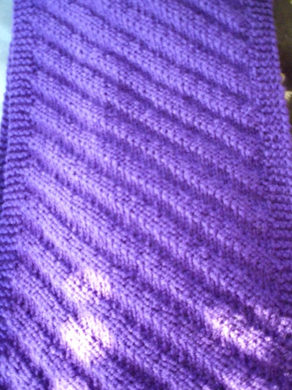 Knitting pattern diagonal stripes scarf beginners knitting