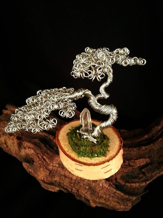 Tree of Life, Wire Wrapped, Wire wrapped Bonsai, Sculpture