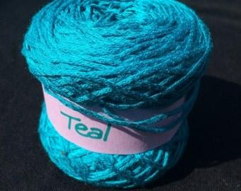 100% Bamboo Sock Yarn in Teal