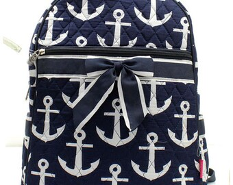 Quilted Anchor Backpack with free monogram