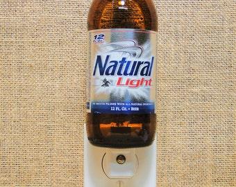Natural Light 12oz. Glass Bottle Night Light