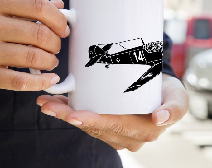 KillerBeeMoto: U.S. Made Coffee Mug Messerschmitt Bf 109 Fighter Plane Coffee Mug (White)
