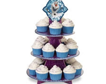 frozen cupcake stand,cake stand, disposable cake stand, wilton, party supplies, cake supplies, cupcake stand