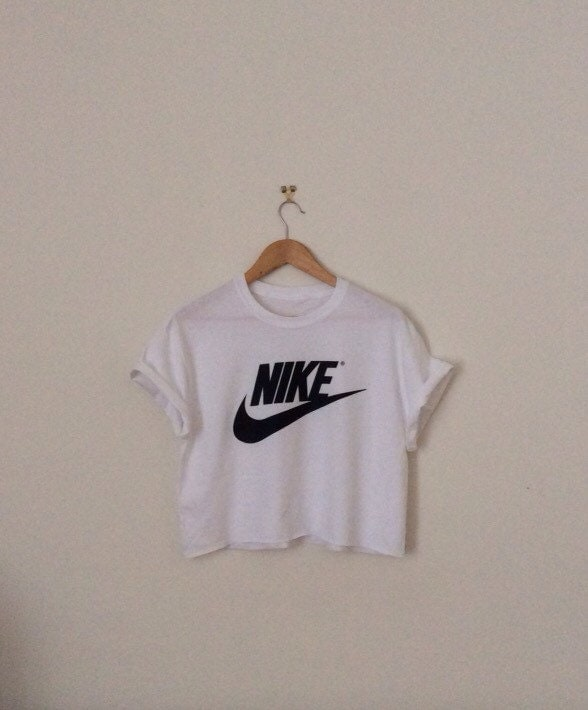 classic white nike sexy swag style crop top by. Black Bedroom Furniture Sets. Home Design Ideas