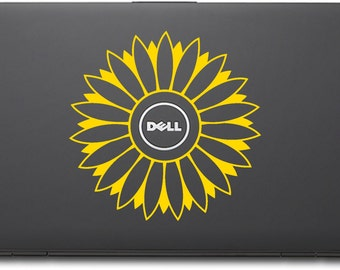 """Dell 6"""" Sunflower Vinyl Decal with 2"""" Opening"""