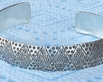 handmade silver cuff bracelet