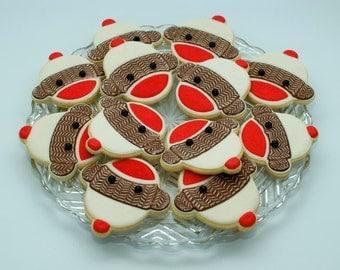 Sock Monkey Sugar Cookies