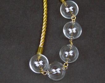 Unique glass bubbles necklace.