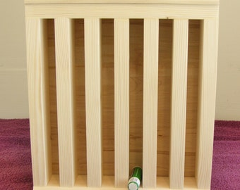 Lip Balm Display Wooden Stand - Round or Oval Tubes - Holds Samples on Top - Use at Craft Show - Farmer's Market - Ren Fair