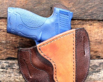 Handmade Leather Holster for Smith and Wesson SHIELD-Bomber Jacket-Discounted