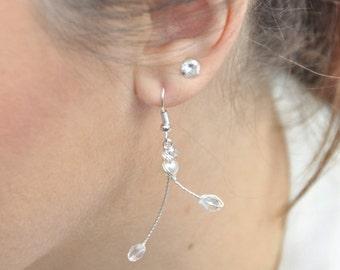 Wedding, original form, Pearl Earrings Crystal - jewelry wedding