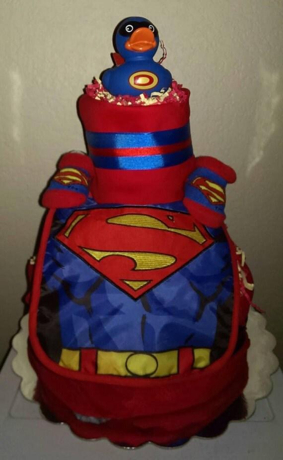 superman baby boys diaper cake