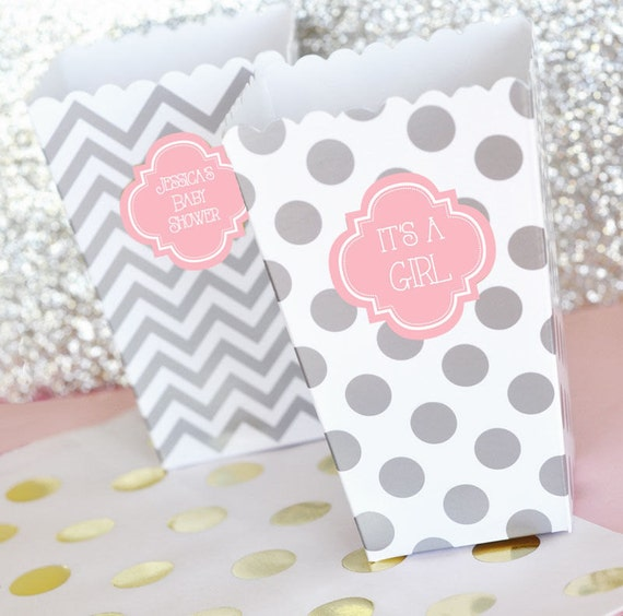 personalized baby shower popcorn 39 n treats boxes set of 24 party