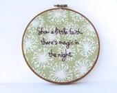 Thunder Road Lyrics Hand Embroidered Hoop