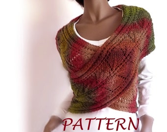 Knitting Pattern Cable Knit Cowl Vest : Knitting Pattern Cable knit Sweater PDF Instant download