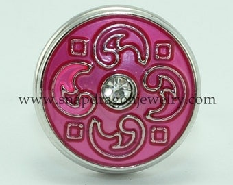Pink Elements SNAP jewelry with crystals -  Snapdragon Jewelry, Noosa Chunk, Popper, Charm, Button