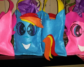 My little pony inspired candy bags.
