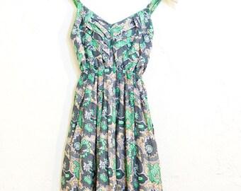 Ethnic Maxi Dress Green Mix (049)