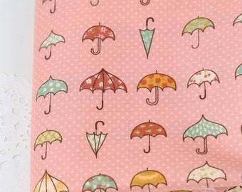 Cotton Fabric Umbrella Pink By The Yard