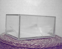 Single Clear Display Box 100 ct Size ACEO Card Holder or Small Diorama Art Case