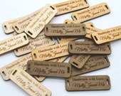 50 Product Tags - Handmade With Love - 0.5 x 1.5 Inches - laser cut and engraved