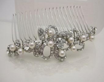 Vintage Inspired Bridal Hair Combs Wedding Hair Accessories Bridal Hair Jewelry 1920's Wedding Headpieces Bridal Hair Pieces Wedding Combs