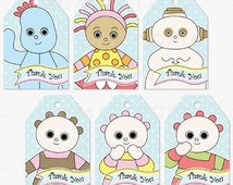 In the Night Garden Party Thank You Favor Tags - Iggle Piggle, Upsy Daisy, Makka Pakka, Tombliboos - DIY Party Printable Instant Download