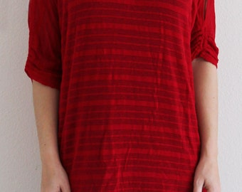 Cinched Sleeve Flame Tunic