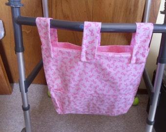 Pink Ribbon walker organizer bag
