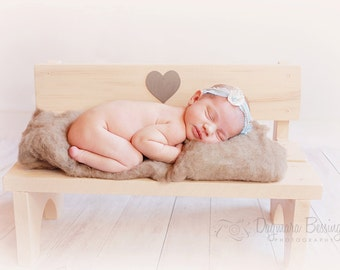 Park bench photography prop, Baby posing, newborn kids props, wooden bench, wodden bench 3 colors avaiable