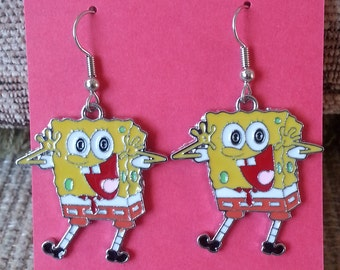 Fun Spongebob Earrings - Low Flat Rate Shipping on US Orders! Great Gift Idea!