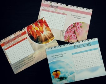 Year Calendar 2015 with quotes