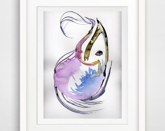 modern room decor, modern watercolor, abstract poster art, modern poster, modern print poster