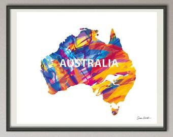 Australia map print, australia wall art, Australia wall hanging, australia silhouette, australia decor, australia art poster