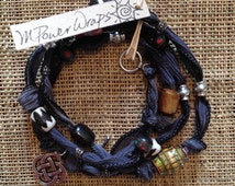 Stone Silk Ribbon with Celtic Knot Charm (we are all connected)