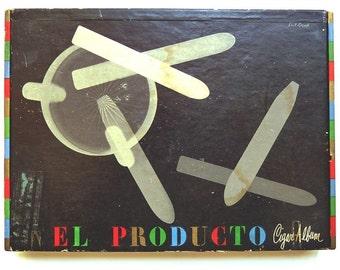 1950's (( Artist Paul Rand )) PHOTO + Cigar Box + Ad ~ Mid-Century Modern