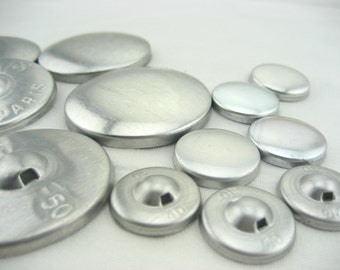 100sets large 24mm 50mm  Fabric self Cover Buttons Aluminum Flat Ring Back DIY fabric button