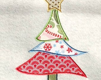 Christmas Tree Applique Design Embroidery