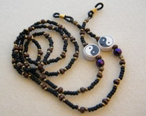 Hand made yin-yang eyeglass holder ~  glasses chain