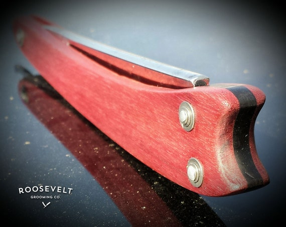 Unique Restored Purpleheart Straight Razor with Shave Ready Vintage Blade