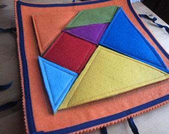 TANGRAM-felt game handmade