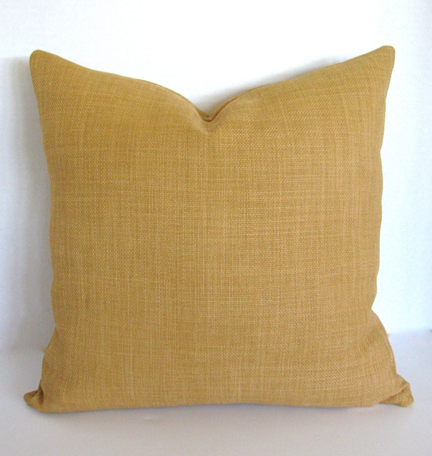 Throw Pillow With Zipper : 18 x 18 Throw Pillow Cover/ Invisible Zipper/ Honey Tan