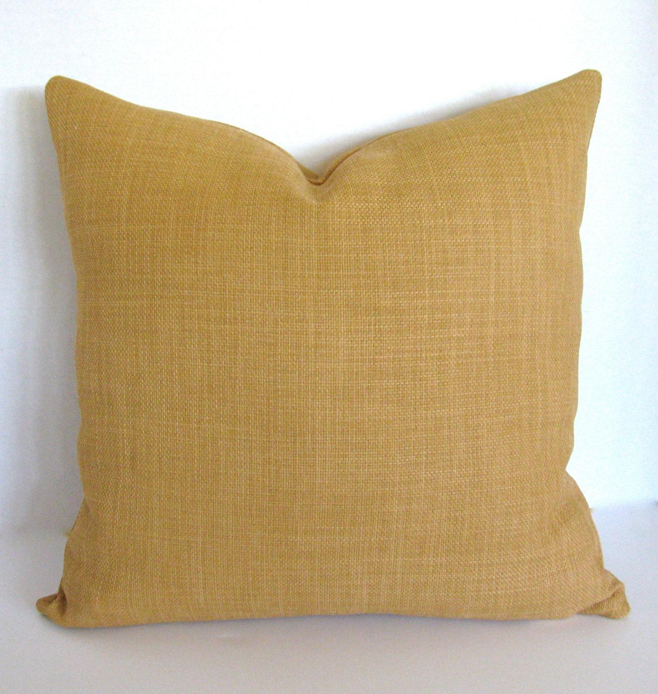 18 x 18 Throw Pillow Cover/ Invisible Zipper/ Honey Tan