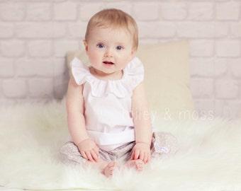 v i o l e t  - Frill Collar Peasant Top Baby Toddler Girls