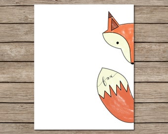 SALE - Fox Printable - INSTANT DOWNLOAD Printable - fox nursery decor - fox room decor - fox children's room - fox kids room - fox print